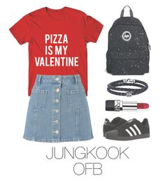 """Jungkook bts outfit"" by mazera-kor on Polyvore featuring мода, Miss Selfridge, adidas, Hype, Phillip Gavriel, Christian Dior, outfit, bts, jungkook и BtsFashion"