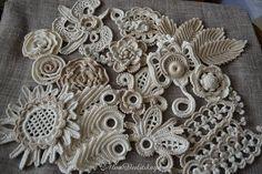 Application 4-4,7 inches (10-12 cm), Irish crochet, jewelry, clothing, bag