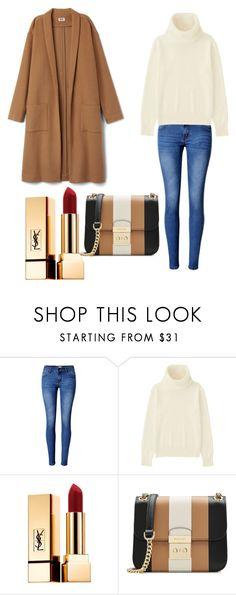 """korean fashion"" by merve-hotkid on Polyvore featuring WithChic, Uniqlo, Yves Saint Laurent and MICHAEL Michael Kors"