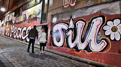 A graffiti artist's dedication to Jill Meagher in Hosier Lane, central Melbourne. Picture: Jason Edwards Source: Herald Sun