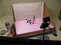 Stop motion videos are easy to make.