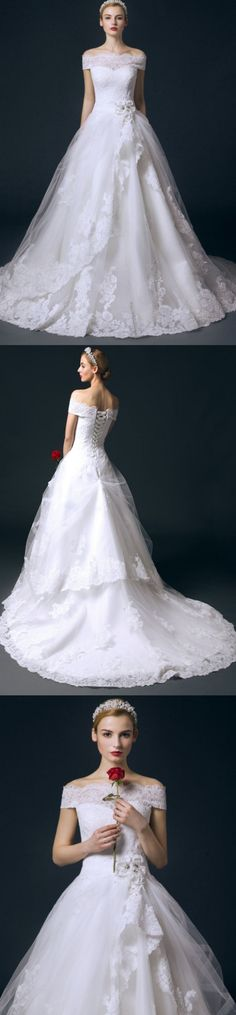 Cathedral Train Wedding Dresses, White Cathedral Train Wedding Dresses, Cathedral Train Long Wedding Dresses, Cathedral Train Wedding Dresses, Long Wedding Dresses, Boat Neck Long Ball Gown Big Wedding Dresses With Flower, Long White dresses, Ball Gown Wedding Dresses, Ball Gown Dresses, White Long Dresses, White Wedding Dresses, Boat Neck dresses, Big Wedding Dresses, Wedding Dresses Ball Gown, Wedding dresses Train, White dresses Long, Long Train Wedding Dresses, White Gown Dresses