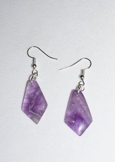 Purple Agate Earrings,  Lavender Earrings,  Agate Jewelry,  Purple Jewelry,  Valentine's Day Gift, Handcrafted Jewelry,  Coupon Code by EarthDreamsbySunLi on Etsy