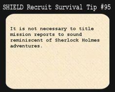 SHIELD Recruit Tip #95