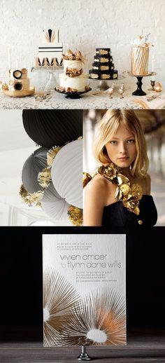 #Metallics #Trend. Art Deco Inspired Wedding or Party