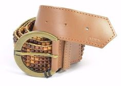 40.00$  Watch here - http://vicss.justgood.pw/vig/item.php?t=2vuahn10784 - Obey DRIFTWOOD Womens 100% Leather Beaded Belt Multi Colored Brown NEW 40.00$