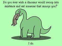 Funny dinosaur eating a man...