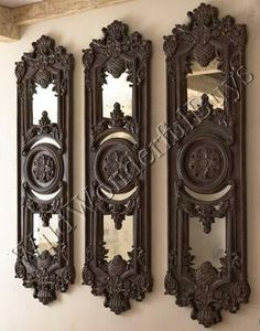 HORCHOW Mirrored Wall PLAQUE Art Panel Decor XL Mirror