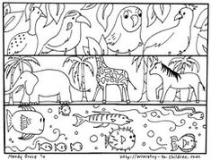 Creation-Day; great coloring pages for Bible stories for children