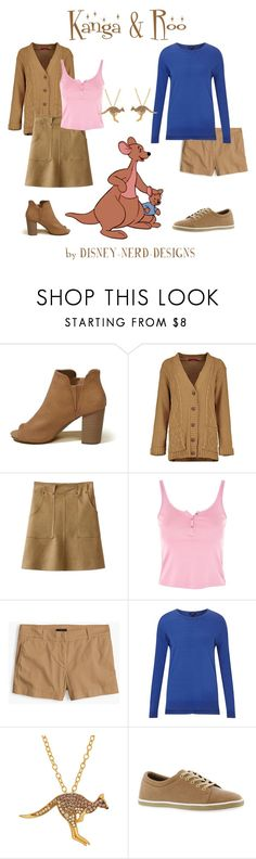 """""""Kanga & Roo Disney Bound"""" by disney-nerd-designs ❤ liked on Polyvore featuring Hollister Co., Topshop, J.Crew, Jigsaw, Animal Planet and Aerosoles"""