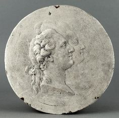 Medallion with portraits of Louis XVI and Marie Antoinette.      It was made in 1778 to celebrate the birth of their first child, Marie Therese Charlotte.