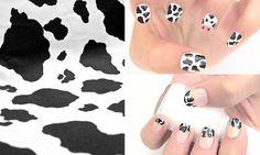 Pintar uñas vaca con manchas