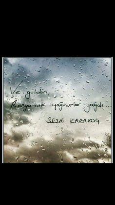 Ve güldün, Rengârenk yağmurlar yağdı Sezai Karakoç