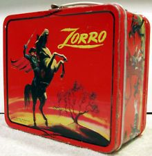 Used ZORRO Lunchbox & Thermos. Examine photos for condition details. Retro Lunch Boxes, Lunch Box Thermos, Tin Lunch Boxes, Metal Lunch Box, Star Wars Lunch Box, School Lunch Box, Disney Concept Art, Retro Advertising, Vintage School