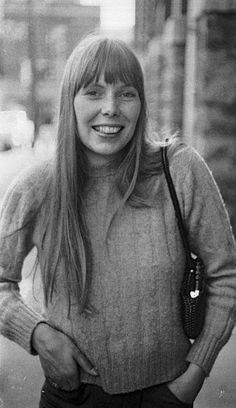 Joni Mitchell arriving for her appearance on the first episode of The Johnny Cash Show, 1969