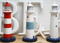 #nautical decor  lighthouses