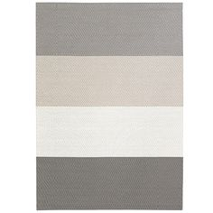 Woodnotes' carpets, manufactured from woven paper yarn, are indisputable classics of Finnish design. Fourways is a modern carpet designed by Ritva Puotila, where the richly colored wide stripes run all through the carpet. Nordic Interior Design, Red Dot Design, Beautiful Color Combinations, Wide Stripes, Modern Carpet, Carpet Design, Grey And White, Gray, Furniture Design