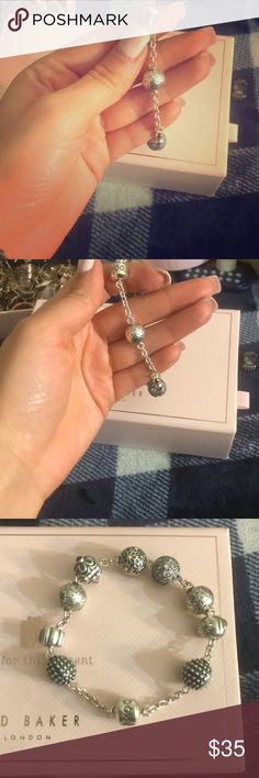 PANDORA flowers silver charm PANDORA little flowers charm  Used twice, looks like new  it doesn't come with Pandora box Pandora Jewelry Bracelets