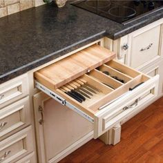 Buy the Rev-A-Shelf Natural Wood Direct. Shop for the Rev-A-Shelf Natural Wood Series Combination Knife Holder and Cutting Board for Base Cabinet and save.