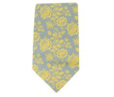 Necktie - Gray Yellow Tie - Portgate - Newborn through Adult Tie Sizes. $24.00, via Etsy.
