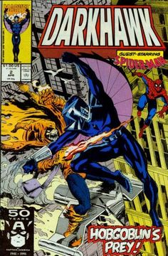Darkhawk No.2 Another teen superhero trying to balance homework & saving the world. http://www.amazon.com/dp/B0019AMQEI/ref=cm_sw_r_pi_dp_1oXlsb0T7HZE6TBW
