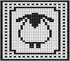 Sheep Chart for Washcloth pattern by Tammy Sanders Be cute in different colors for a knitter or crocheter. Sheep Chart for Washcloth by Tammy Sanders. Knitting Charts, Knitting Stitches, Baby Knitting, Knitting Patterns, Crochet Patterns, Filet Crochet, Crochet Chart, Cross Stitch Charts, Cross Stitch Patterns