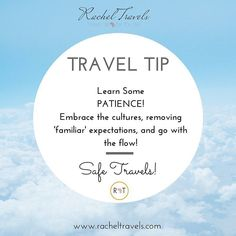 [TRAVEL TIP  WEDNESDAY]  When traveling learn PATIENCE.  Many things will be different; music food attitudes manners processes etc.  I remember when I was in Dubai earlier this year three young ladies were getting in a heated debate with airport personnel because their process/rules/standards weren't what they were used to here in the States.  Get over it and embrace the experience.  This ain't the crib.  Things may be different.  Traveling can be uncomfortable at times. Get out of your…