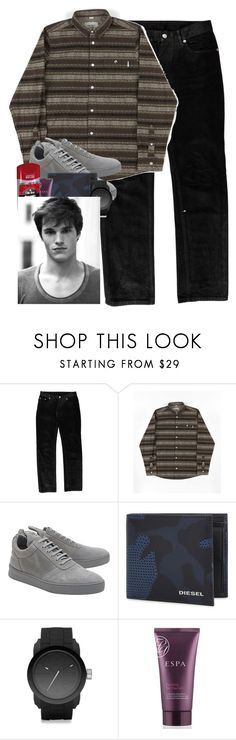 """Untitled #1939"" by purplicious ❤ liked on Polyvore featuring Helmut Lang, Carhartt, Filling Pieces, Diesel, Espa, Old Spice, DUO, men's fashion and menswear"