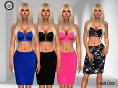 MP Sleek Dress by MartyP at TSR • Sims 4 Updates