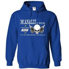 MCANALLY RULE\S Team - #off the shoulder sweatshirt #brown sweater. GET YOURS => https://www.sunfrog.com/Valentines/MCANALLY-RULES-Team.html?68278