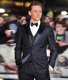 Tom Hiddleston Black Tie Tuxedo