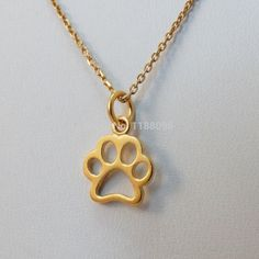 best-selling Tiny Paw Necklace 24k Gold Plated low price gold Dog Cat tag cheap custom metal pet dog tags cut out
