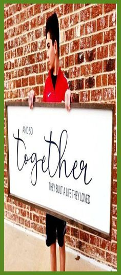Custom wood signs handmade. Style your own primitive wood sign for a personalized gift. Select from numerous design and colors. #etsy #Products... Wood Signs For Home, Diy Wood Signs, Wood Home Decor, Diy Home Decor, Wall Decor, Wood Gifts, Diy Gifts, Love Wood Sign, Diy Wedding Gifts