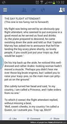 Gay Flight Attendants are the best.