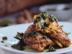 Chicken with Kaffir Lime Pesto Recipe from Cooking Channel Lime Leaves Recipes, Lime Recipes, Asian Recipes, Chinese Recipes, Ching He Huang Recipes, Lemongrass Recipes, Cooking Channel Recipes, Kaffir Lime, Lime Chicken