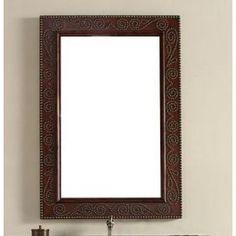 James Martin 100-M31-BCH Continental 31 Inch Mirror  in Burnished Cherry