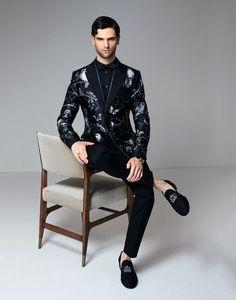 PRINTED TUXEDO JACKET IN SILK MIKADO - Blazers - Dolce&Gabbana - Summer 2016