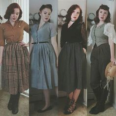 Vintage inspired fashion How to Create a Vintage Style Home Decor Vintage fashion is most simply a b Retro Mode, Vintage Mode, Retro Vintage, Vintage Outfits, Vintage Dresses, Vintage Clothing 1940s, 40s Clothing, 1940s Clothes, 1940s Outfits