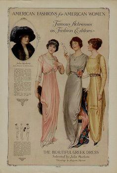 1913 fashion plate - more → http://myclothingwebsitesforwomen.blogspot.com/2012/07/1913-fashion-plate.html