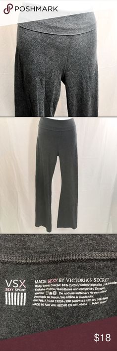 VSX SEXY SPORT BY VICTORIA'S SECRET Gray Yoga Pant These yoga pants are in fairly good condition. They have been gently worn. On the description, the size is marked like this… M/M•SHORT.  The inseam measures 30 inches. Victoria's Secret Pants Track Pants & Joggers