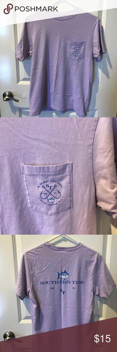 Southern Tide Men's T-shirt Purple and in great condition!  Only worn a few times. Southern Tide Shirts Tees - Short Sleeve