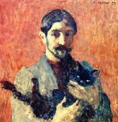 Louis Valtat - Self-Portrait with Cat, 1899