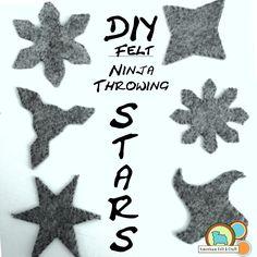 DIY felt ninja throwing stars - ninjago toy