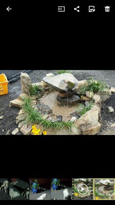 New mein sch ner garten wasserfall steine mauer garden Pinterest Gardens
