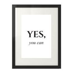Plakat motywacyjny z napisem Yes you can na środku plakatu