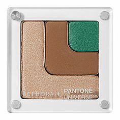 SEPHORA+PANTONE UNIVERSE - Color Theory Shadow Block - Elemental in Emerald Shimmer, Appleblossom, Camel   #sephora