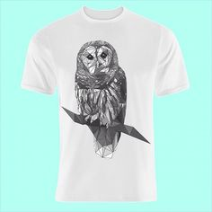 My entry to the artsthread x pressup T-shirt design competition. Please go to http://ift.tt/1HDYiKb and vote for me! #art #print #tshirt #printdesign #owl #geometric #mono #blackandwhite
