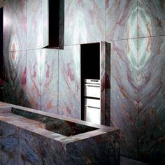 Luis Blue kitchen, Minotti Cucine (stone kitchen)
