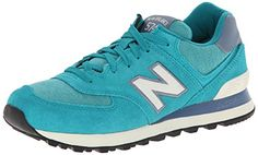 New Balance Womens WL574 Pennant Pack Running ShoeTealWhite6 B US ** Check out this great product.