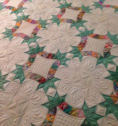 Beautiful machine quilting! quiltsonbastings